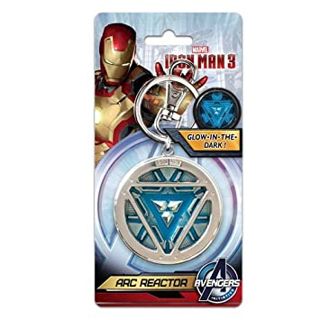 Marvel Iron Man 3 Arc Reactor Pewter Key Ring