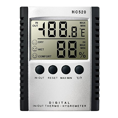 Weather Thermometers, Digital Indoor and Outdoor Temperature Humidity thermomete Wall Mount Monitor Sensor Thermostat by Mikiz