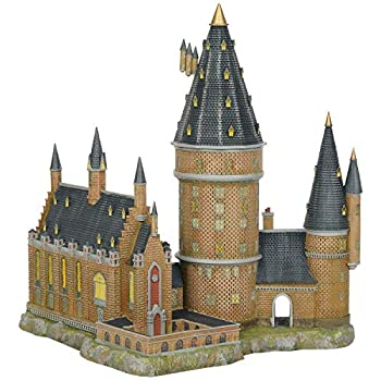 Image of Home and Kitchen Department56 Harry Potter Village Hogwarts Hall and Tower Lit Building, 13.07', Multicolor