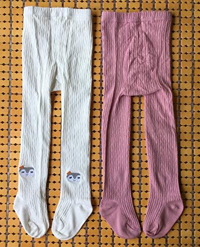 QandSweet Toddler Girls Tights Knit Cotton Pantyhose Dance Leggings Pants Stockings Animal Head 1-2T by QandSweet (Image #5)