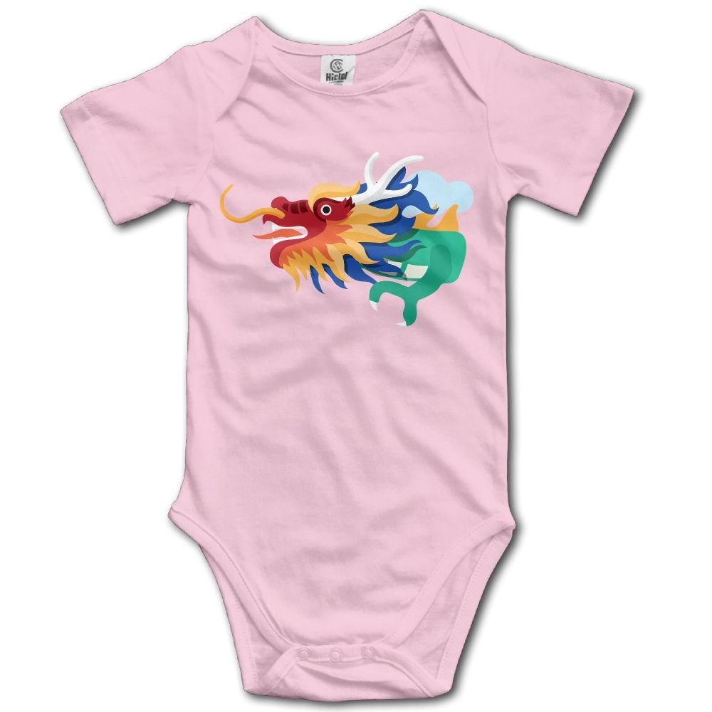 Baby Climbing Clothes Romper colorful Dragon Pattern Infant Playsuit Bodysuit Creeper Onesies Pink