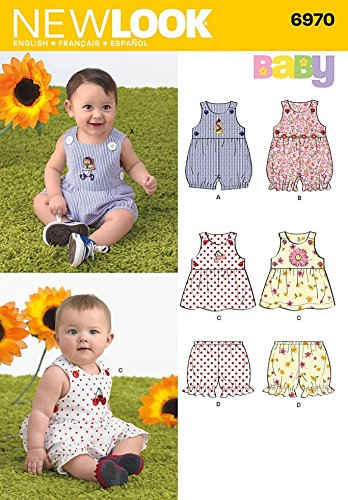 New Look Sewing Pattern 6970 - Babies\' Romper, Dress & Panties Sizes ...