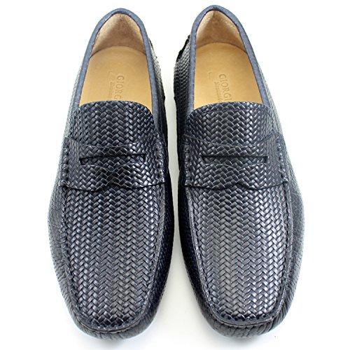 Noir Classique Chaussures Italiennes Classic Mocassins Shoes Mâle Car REA Élégant Noir GIORGIO Homme Main Oxford Cuir Shoes Sa75Rqf