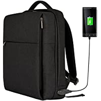 Osoce Slim Business Laptop Backpack w/ USB Charging Port Fits 15.6 Inch Notebook for School/Work/Travel