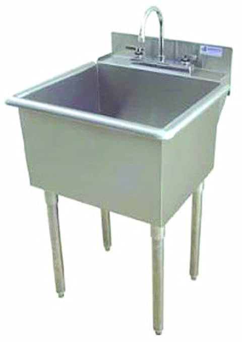 Amazon.com: Griffin lt-118 Utility lavabo con desagüe, acero ...