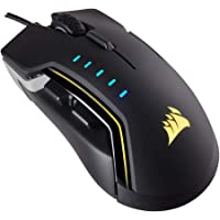 Corsair Glaive RGB Optical Gaming Mouse (16,000 DPI Optical Sensor, Interchangable Thumbgrips, 3-Zone RGB Multicolour Lighting, On-board Storage) - Aluminium