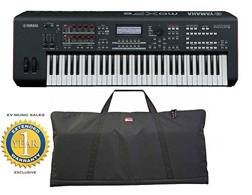 Yamaha MOXF6 61-key Synth Workstation w/Gator 61 Key Gig Bag Softcase with 1 Year Free Extended Warranty