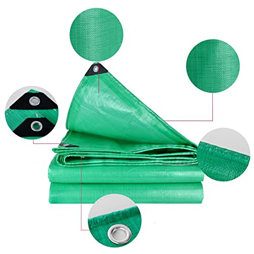 Tarpaulin Tarpaulin Sheet Mouldproof Hardy Canopy Boats Covers Sunscreen Anti-aging Frost Resisting -180g/m², Thickness 0.38mm, Green, 9 Sizes Optional, Size Customized (Size : 3 x 3m) by Hw Ⓡ Tarpaulin (Image #1)
