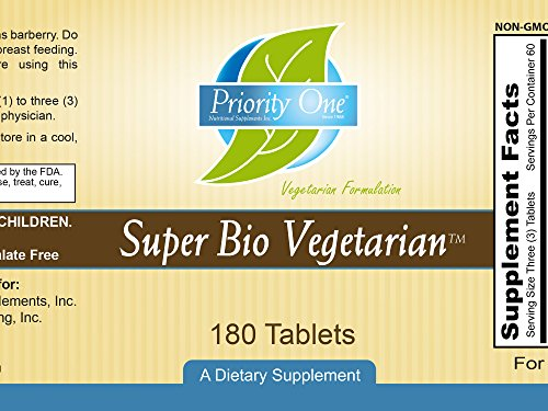 Priority One Vitamins Super Bio Vegetarian 180 Tablets - Immune System Support*- Clinical Strength - Benefits of Shiitake & Maitake Mushrooms. by Priority One Nutritional Supplements (Image #2)