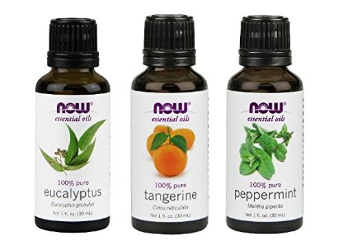 3-Pack Variety of NOW Essential Oils: Mental Focus - Eucalyptus, Tangerine, Peppermint (Tangerine Essential Oil compare prices)