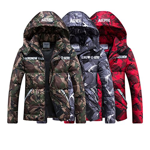 Down Men's Lightweight WALK Puffer Hooded Detachable LEADER Winter Windproof Coat Blue Jacket Camouflage wInq4Fp