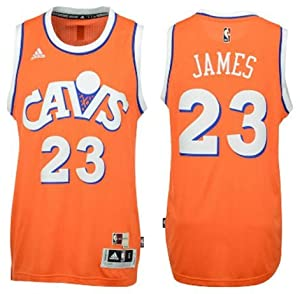 3be938e0b Youth adidas LeBron James Cleveland Cavaliers Orange Hardwood Classics  Swingman Jersey