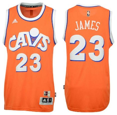 Youth adidas LeBron James Cleveland Cavaliers Orange Hardwood Classics Swingman Jersey