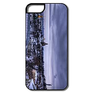 IPhone 5 5S Hard Plastic Cases, City Winter White/black Case For IPhone 5