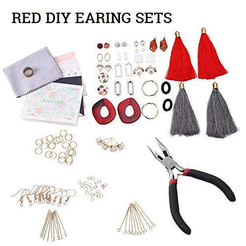 Premium Jewelry Findings Set Jewelry Making Supplies Kit Jewelry Findings Starter Kit Jewelry Beading Making and Repair Tools Kit Pliers Beads Wire Starter Tool