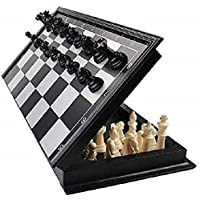 NK STAR Magnetic Educational Chess Board Set with Folding Chess Board Travel Toys for Kids and Adults (10 Inch) ( Black…