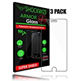 iPhone 6S / 6 Screen Protector, ShockWize [3 Pack] iPhone 6s / 6 Tempered Glass Screen Protector for Apple iPhone 6s / 6 [3D Touch Compatible] (3 Pack)