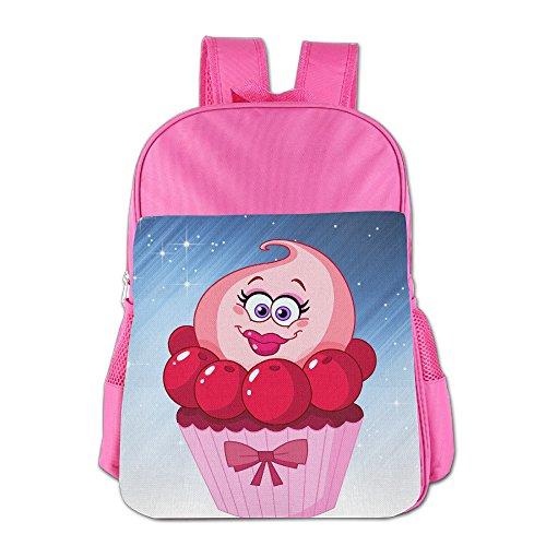 Ongshuquwe Cupcake Cartoon Leisure Children Cute Cartoon Schoolbag Pink