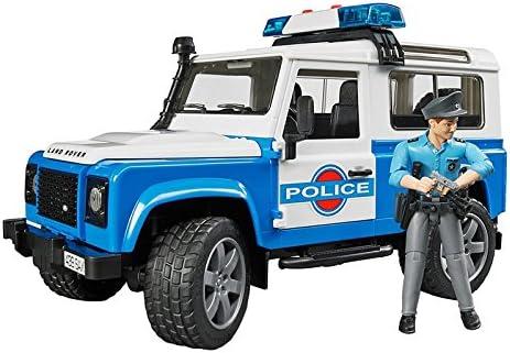 Bruder 2595 - Land Rover Coche de Policía con sirena y policía: Amazon.es: Juguetes y juegos