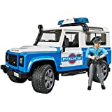 Bruder Land Rover Defender Station Wagon Police Vehicle with Policeman and Accessories