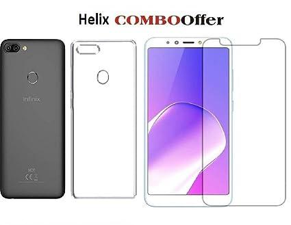 Helix Infinix Hot 6 Pro X608 Transparent Back Cover + 1