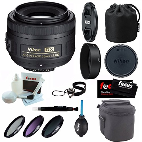 Nikon 35mm F/1.8G AF-S DX Nikkor Lens with Deluxe Accessory for sale  Delivered anywhere in USA