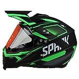 Woljay Dual Sport Off Road Motorcycle helmet Dirt Bike ATV D.O.T certified (M)