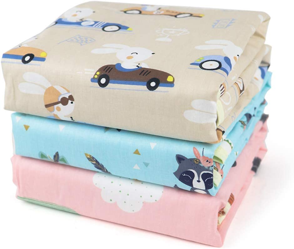 Fasciatoio per neonato,Fasciatoio per neonato portatile,impermeabile Bambino pannolino lavabile Passeggino portatile da viaggio per casa Lenzuolo mestruale Cuscino per animali domestici Pad 3 pezzi