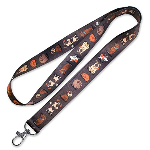 Lucky Line Lanyard with Swivel Snap, Dog Design (C204) -