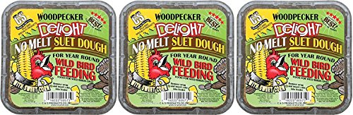 (3 Pack) C&S Woodpecker Delight No-Melt Suet Dough