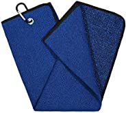 Mile High Life | Tri-fold Microfiber Golf Towel | Innovative Dual Side Design w/Dirt Scrub Side and Soft Clean