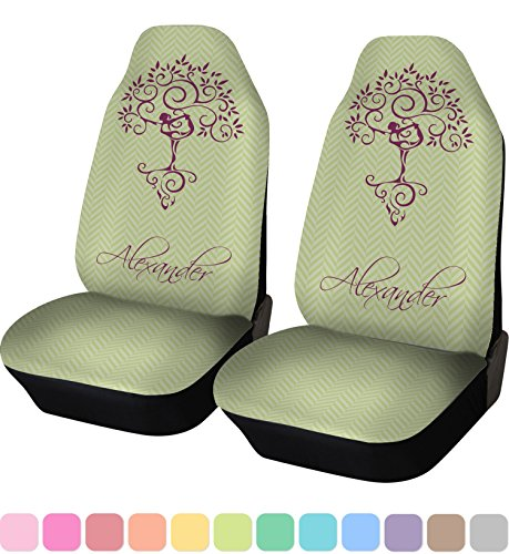 purple and green car seat covers - 4