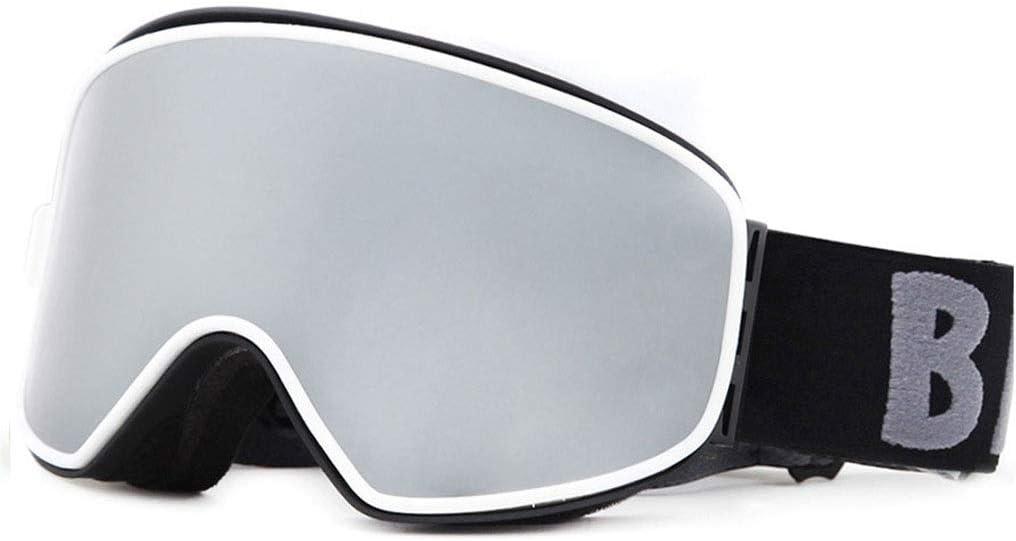 Soporte tv Gafas de esquí magnéticas, antiniebla, protección UV Snow Gafas para Hombres y Mujeres y Adolescentes