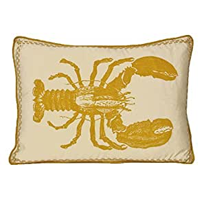 Kevin O'Brien Studio Lobster Decorative Pillow, Yellow Submarine