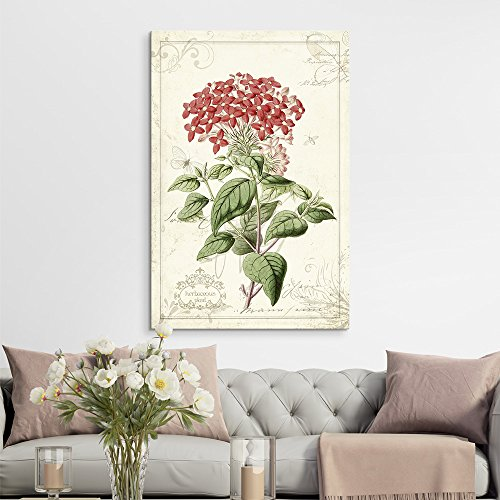 Vintage Style Plant with Red Flowers