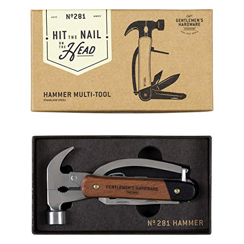 Gentlemen's Hardware 7-in-1 Hammer Multi-Tool with Wood Handles & Titanium Coated Stainless Steel To - http://coolthings.us