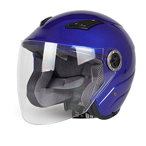 YIHANG @ Moto Casque Homme Voiture électrique Demi-casque Femme Quatre Saisons Pluie Brouillard Chaud Casque