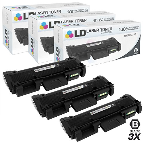 LD Compatible Toner Cartridge Replacement for Xerox Phaser 3260 & WorkCentre 3215 High Yield (Black, 3-Pack) ()