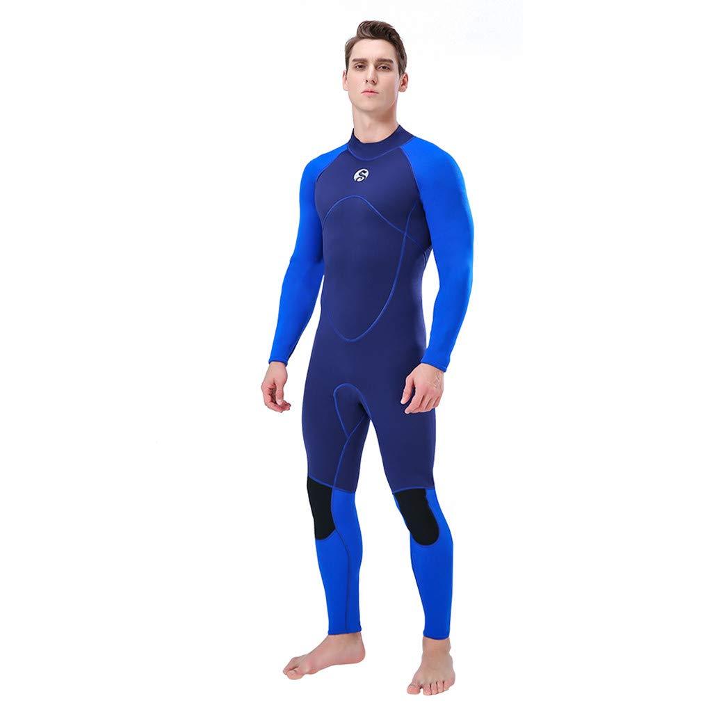 Meidexian888 Super Stretch Swimsuit,WetSuit 3MM Full Body Suit Diving Suit Swim Surf Snorkeling For Men (Blue, XL) by Meidexian888 (Image #2)