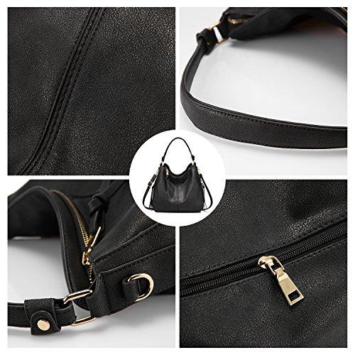 Handbags Black Large for Purse Designer Bucket Faux Hobo Leather Ladies Women bag rPrEwq6