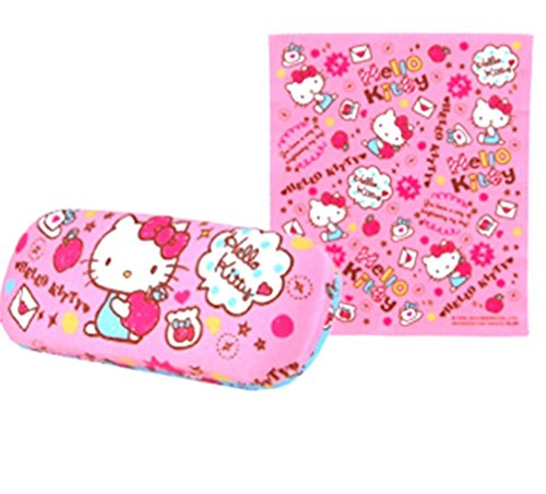 e55319a50 Authentic Hello Kitty Eyeglass Hard Case with Cleaning Cloth ...