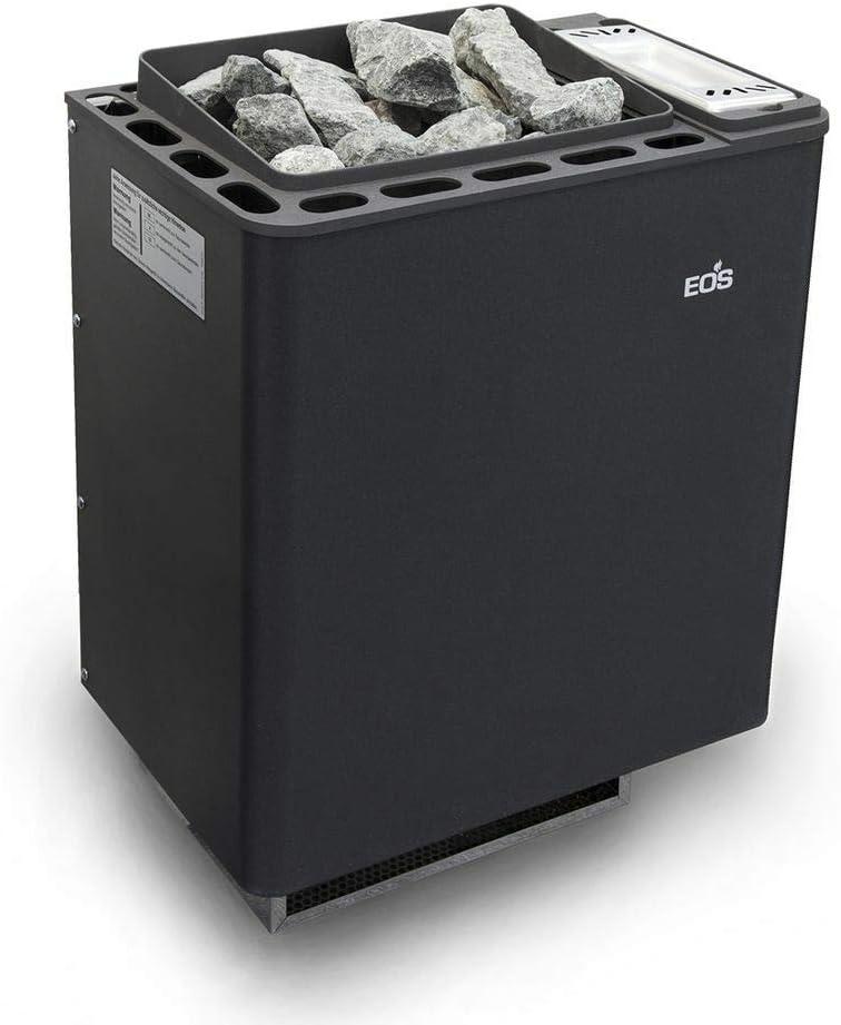 Well Solutions BiO Thermat by EOS - Estufa para sauna (6-9 kW, incluye piedras para sauna)