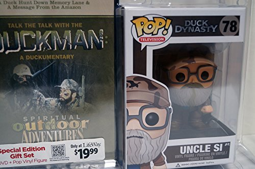 Duck Dynasty 78 UNCLE SI Pop! Television Vinyl Figure & Talk the Talk with the Duckman DVD Special Edition Gift Set