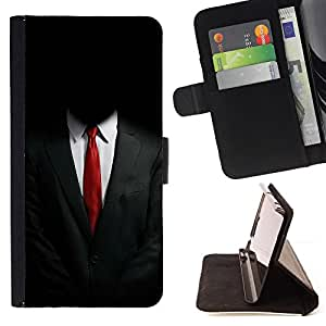BullDog Case - FOR/Samsung Galaxy S4 Mini i9190 / - / ANONYMOUS SUIT /- Monedero de cuero de la PU Llevar cubierta de la caja con el ID Credit Card Slots Flip funda de cuer