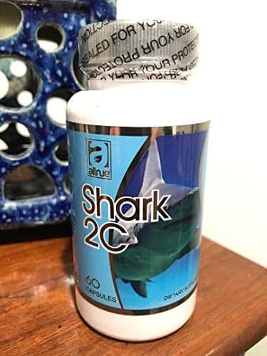 Shark Cartilage 2C Cartilago de Tiburon, Dietary Supplement 60 Capsules glucosamina dieta huesos Health