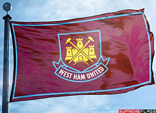 (West Ham United Flag Banner 3x5 England British UK Premier Football Soccer)