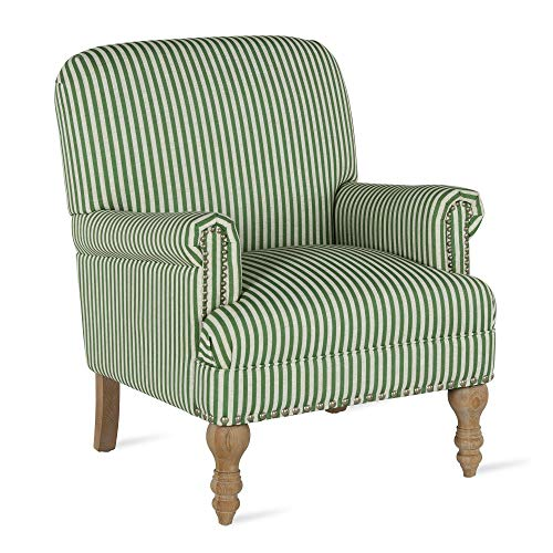 Dorel Living DA7902-GN Jaya, Green Stripe Accent Chair