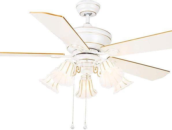 Luz del Ventilador de Techo 52 Pulgadas,luz Blanca del Ventilador ...