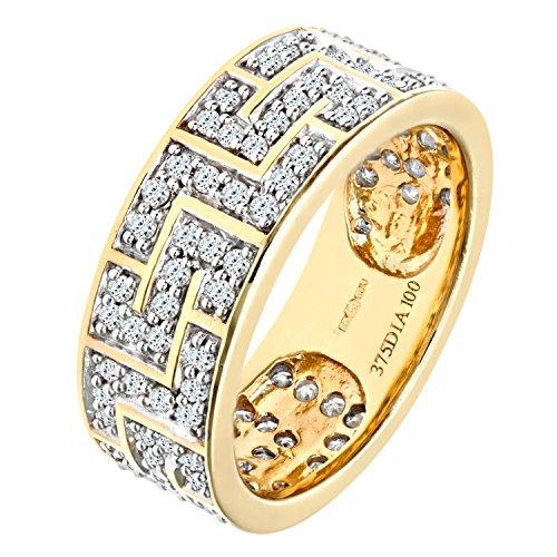Bague Homme - Or jaune (9 cts) 5 Gr - Diamant 0.01 Cts