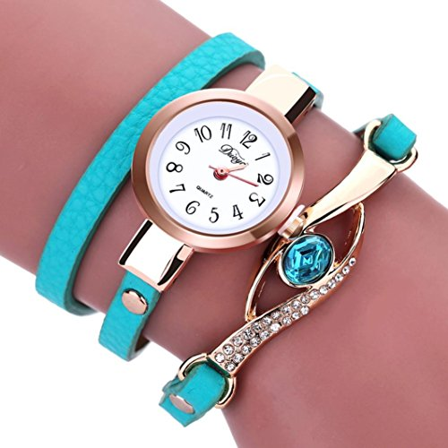 Bolayu Women Diamond Wrap Around Quartz Wrist Watch - Multi Colored G Shock